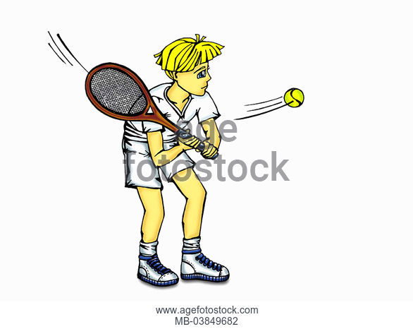 586x466 Illustration, Tennis Players, Sw, Pencil Drawing, Drawing