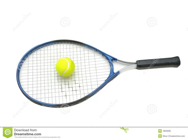 736x546 Tennis Racket And Ball Isolate Royalty Free Stock Photo