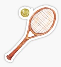 210x230 Tennis Racket Drawing Stickers Redbubble