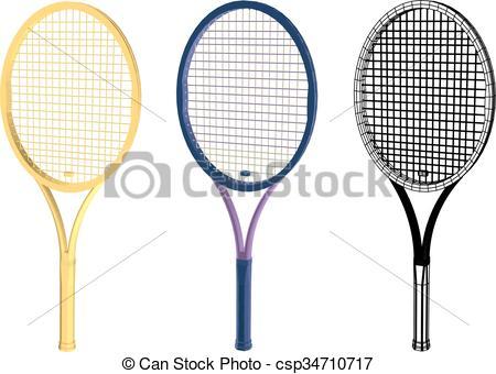 450x340 Tennis Racquet Vector Clip Art