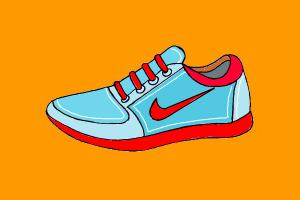 Tennis Shoe Drawing at GetDrawings.com