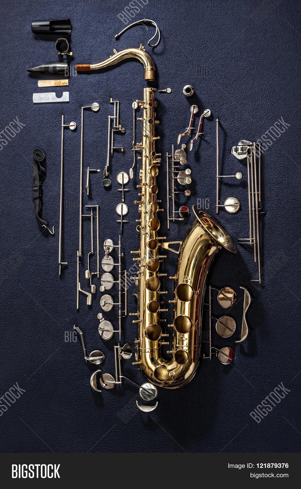 1000x1620 Tenor Saxophone, Exploded View Image Amp Photo Bigstock