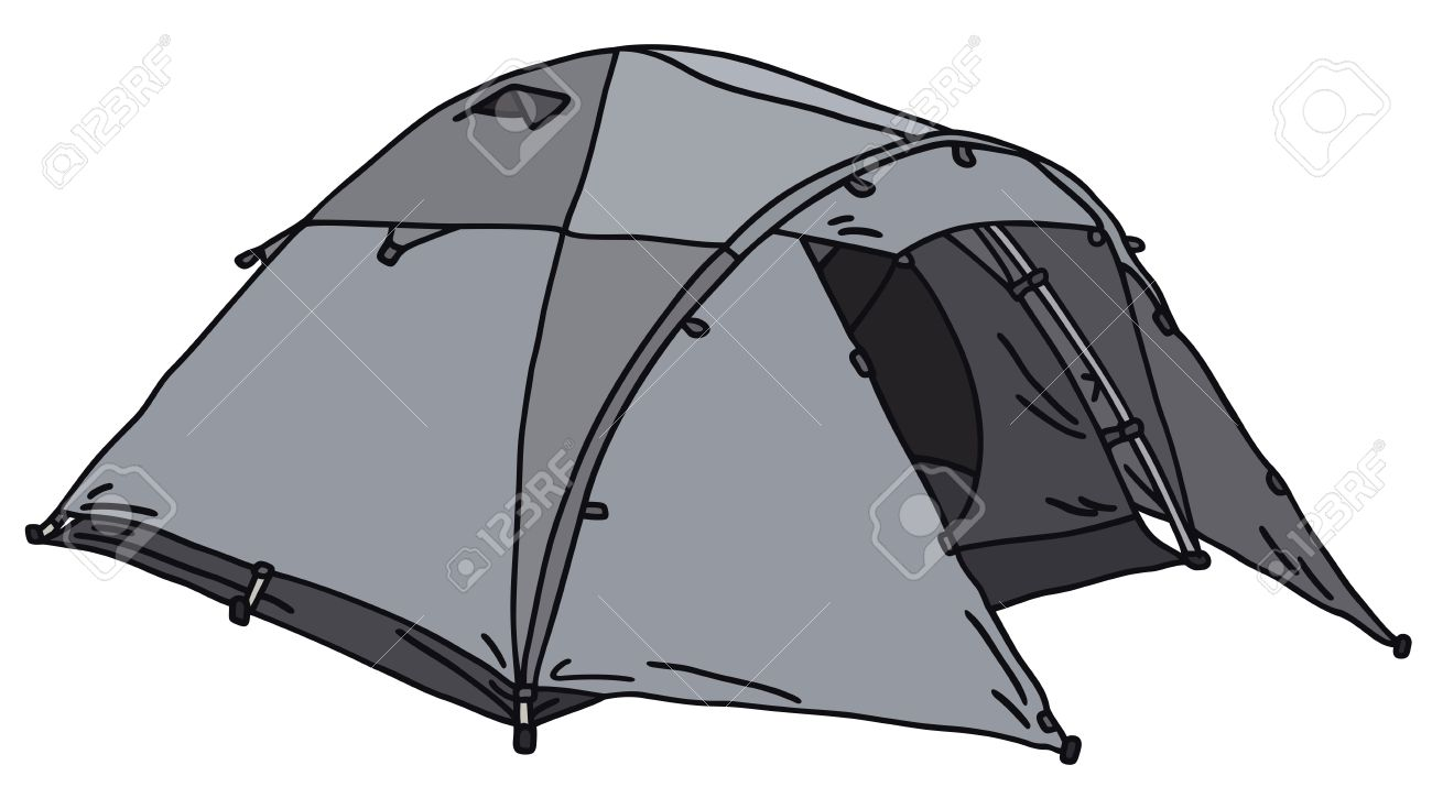1300x715 Hand Drawing Of A Tent Royalty Free Cliparts, Vectors, And Stock