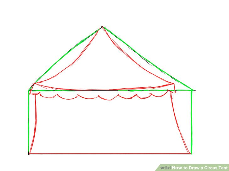 728x546 How To Draw A Circus Tent 6 Steps (With Pictures)