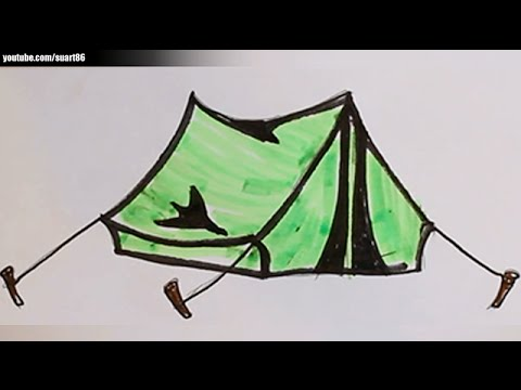 480x360 How To Draw A Tent