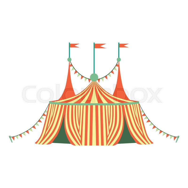 800x800 Red And Yellow Stripy Circus Tent, Part Of Amusement Park And Fair