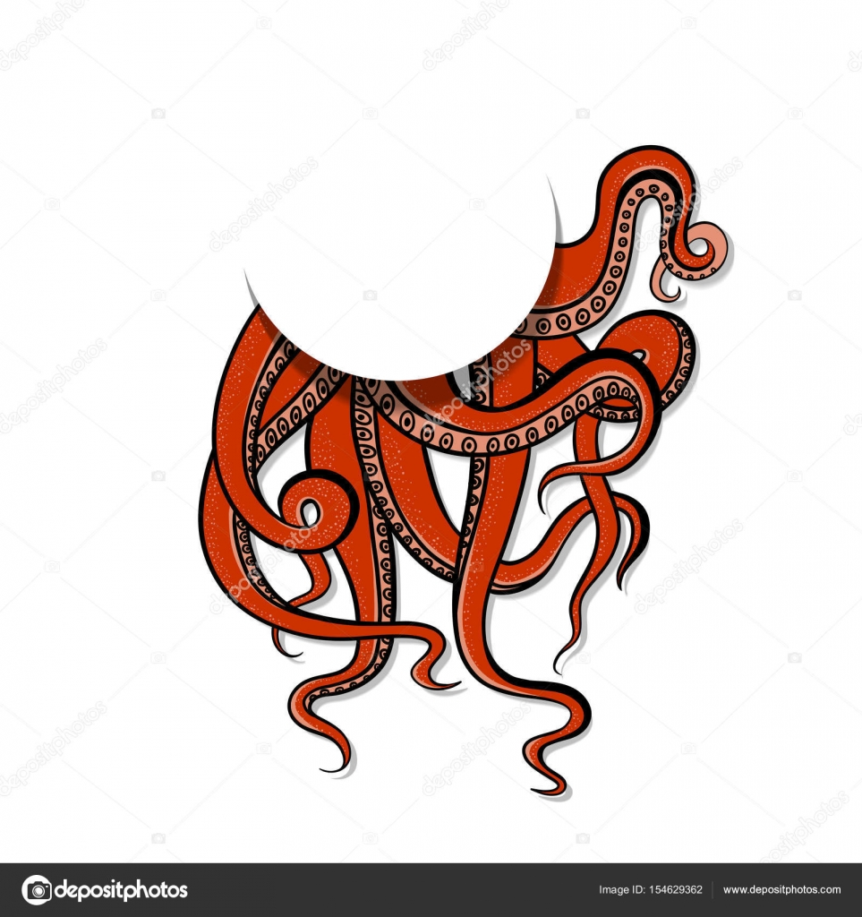 963x1024 Vector Illustration Art Red Tentacles Of The Monster Octopus