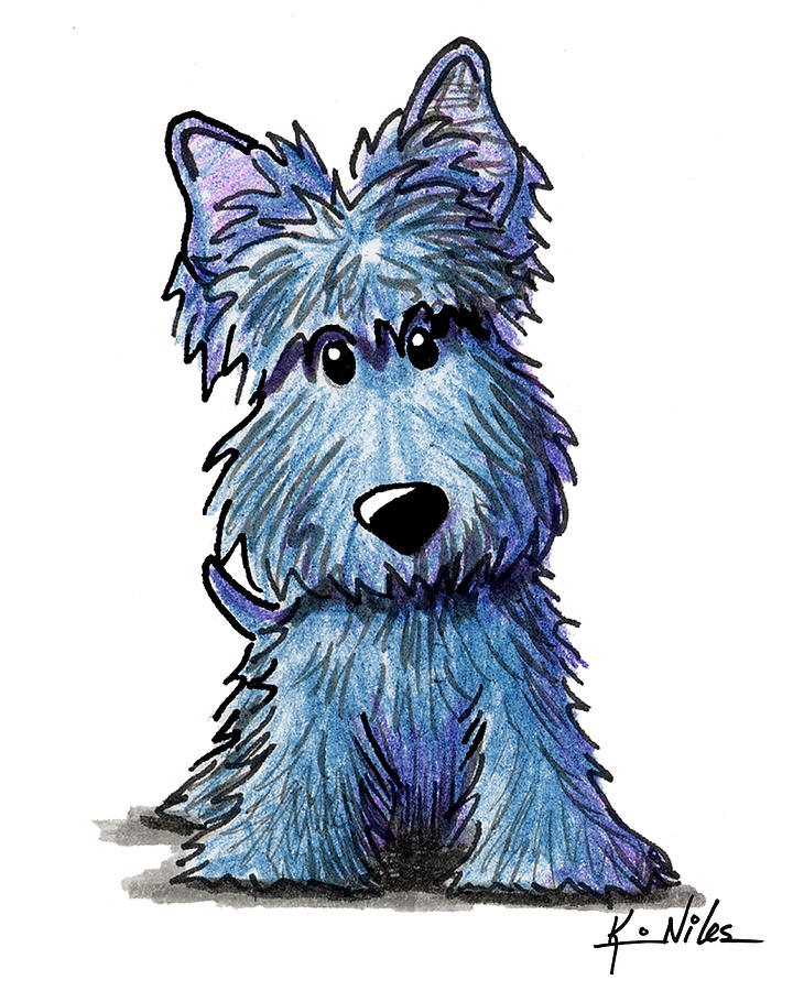 720x900 K9 Keanu Scottie Terrier Drawing By Kim Niles