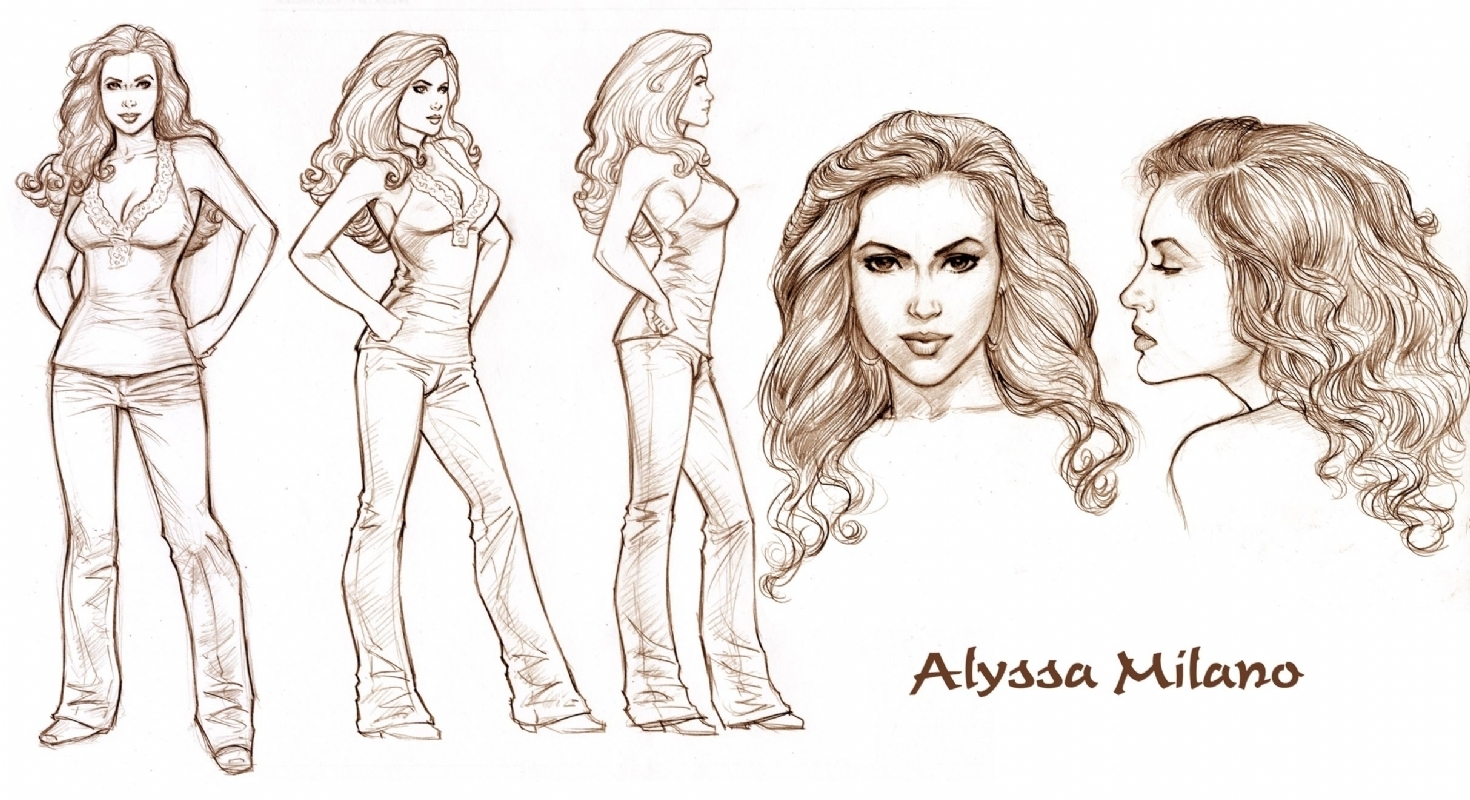 1470x800 Charmed Comics Images Test Drawing Of Alyssa (Dave Hoover) Hd
