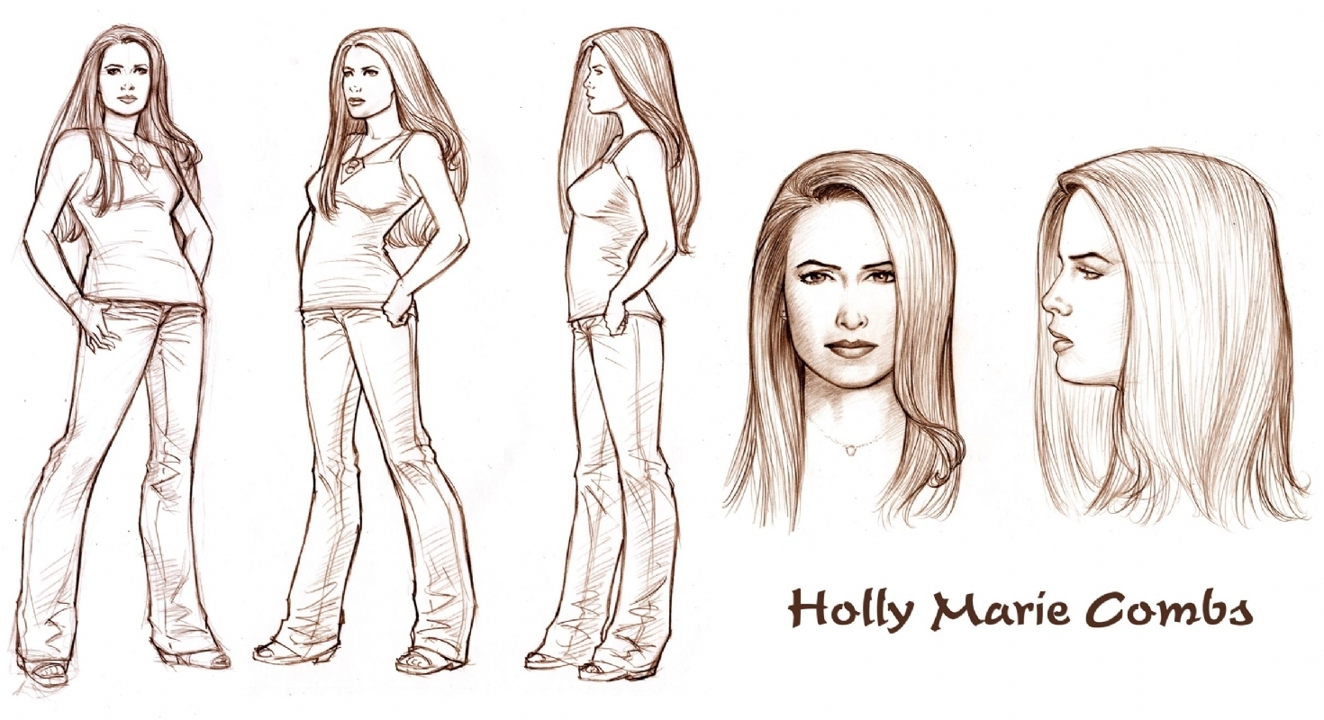 1470x800 Charmed Comics Images Test Drawing Of Holly (Dave Hoover) Hd