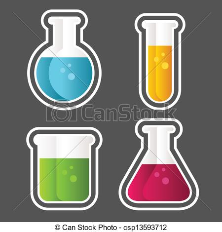 450x470 Test Tube Icons. Set Of Test Tube And Beaker Icons. Vector Clip