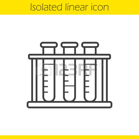 450x450 Chemical Experiment Linear Icon. Thin Line Illustration