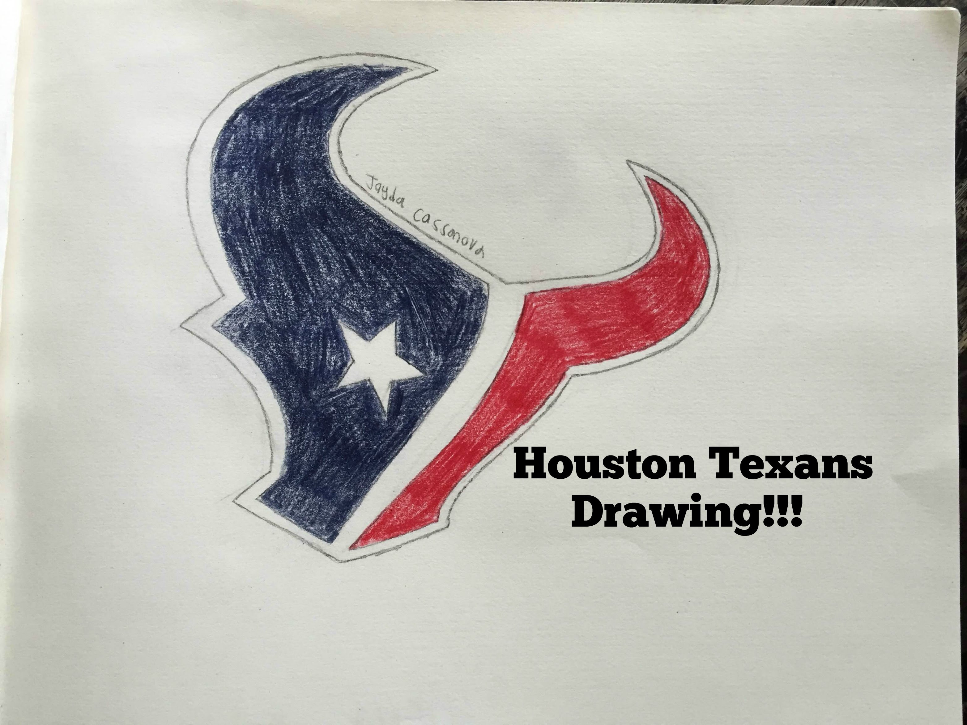 3128x2346 Houston Texans Logo Drawing (Time Lapse)
