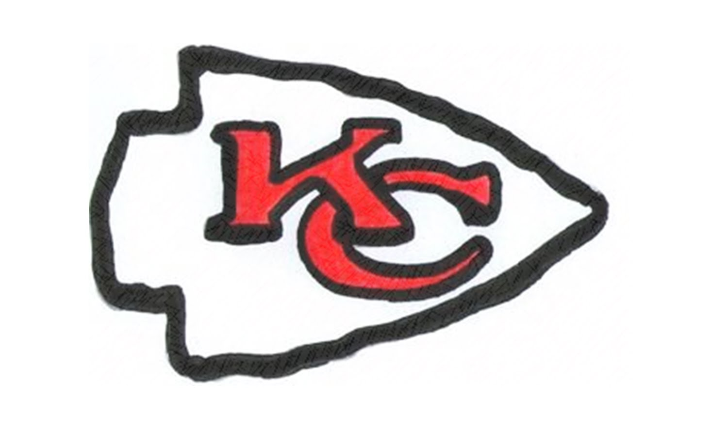 1500x885 How To Draw The Kansas City Chiefs Logo (Nfl)