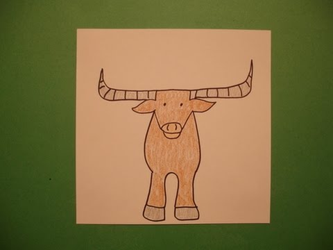 480x360 Let's Draw A Longhorn Steer!