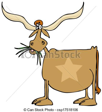 427x470 Texas Longhorn. This Illustration Depicts A Cow With Giant