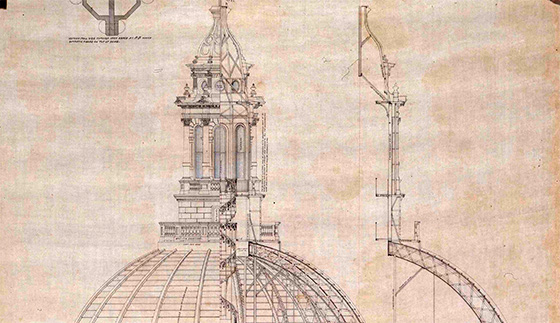 560x323 Architectural Drawing Of The Texas State Capitol Bullock Texas