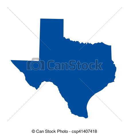 450x468 Texas State Map Vector Clip Art
