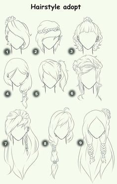 236x371 Hairstyle Adopt, Text, Woman, Girl, Hairstyles How To Draw Manga