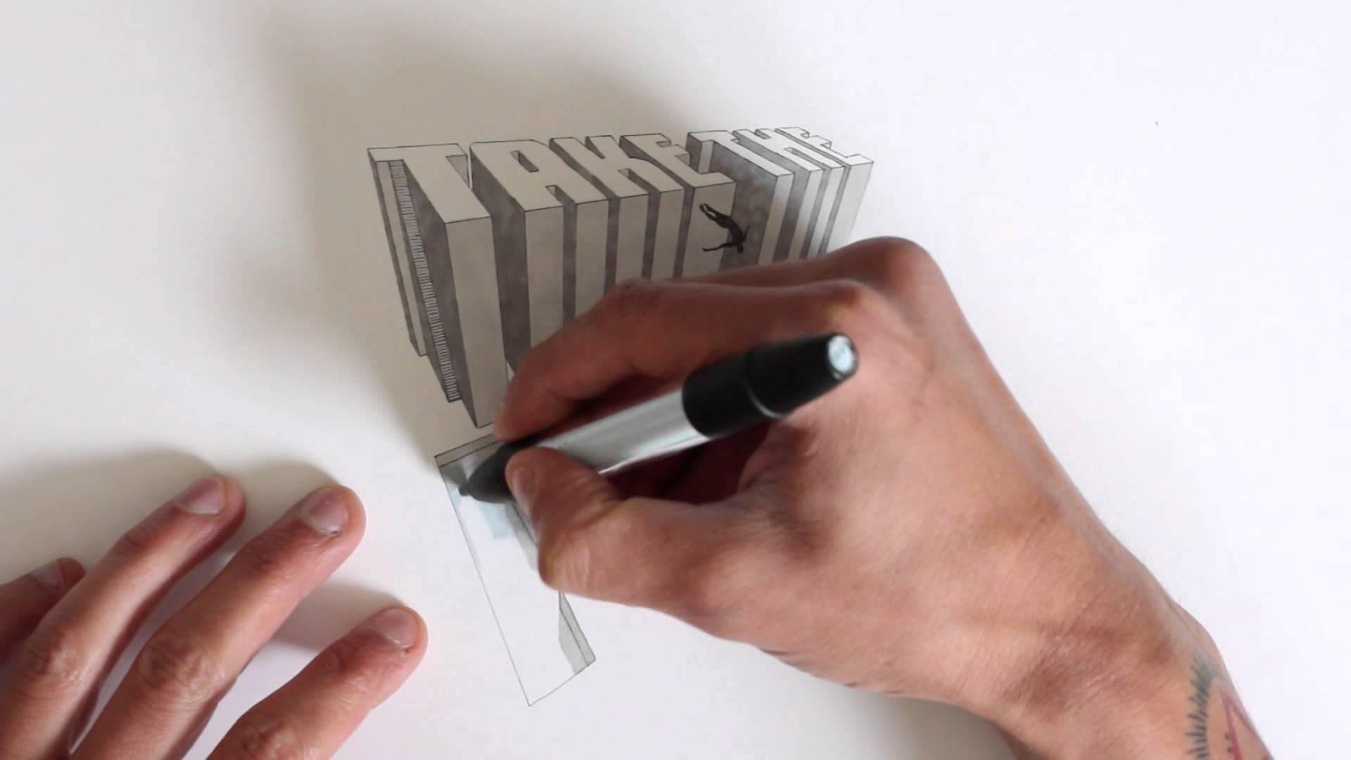 1920x1080 How I Draw 3d Text
