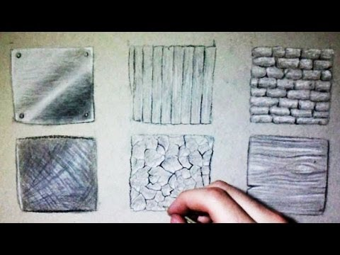 480x360 Drawing Time Lapse 6 Different Textures (Wood, Metal, Stone