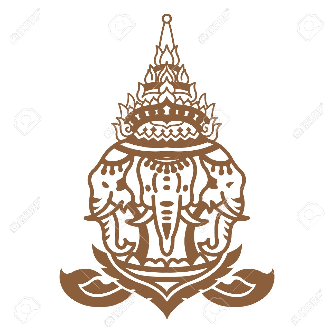 1300x1300 Thai Elephant Royalty Free Cliparts, Vectors, And Stock