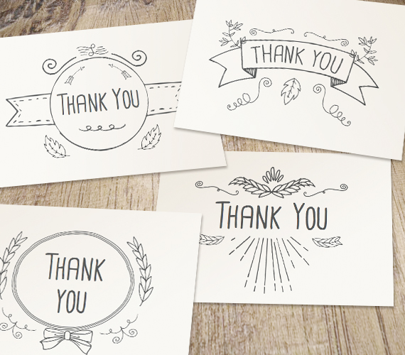 570x500 Hand Drawn Printable Thank You Cards Work Your Art Gift Ideas