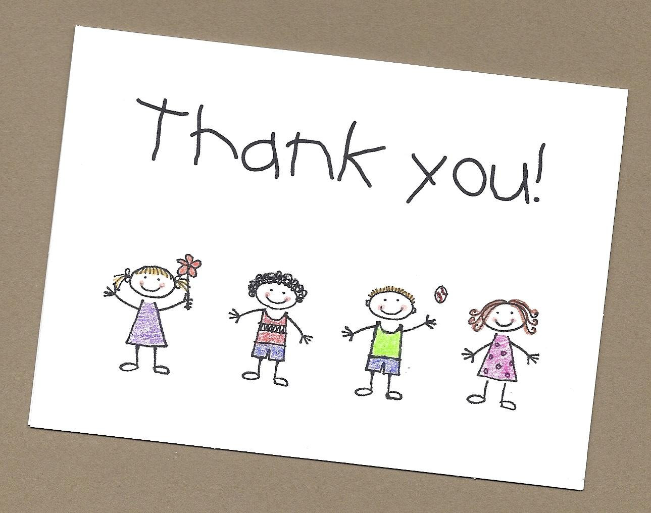 Thank You Card Drawing At Getdrawings Free For Personal Use