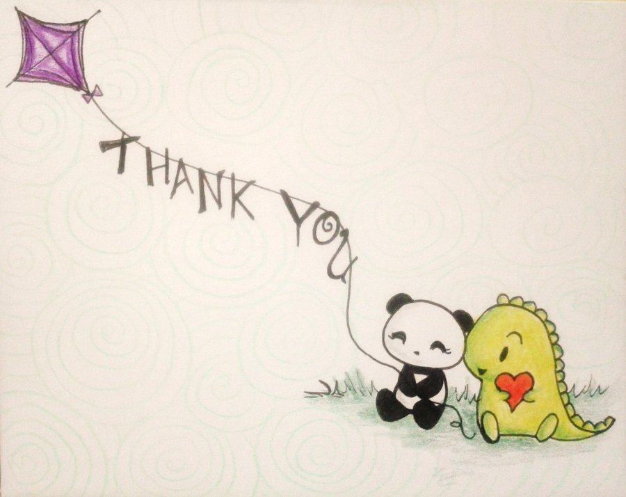 900x714 Dino And Panda Thank You 002 By Melodicinterval Miscellanous