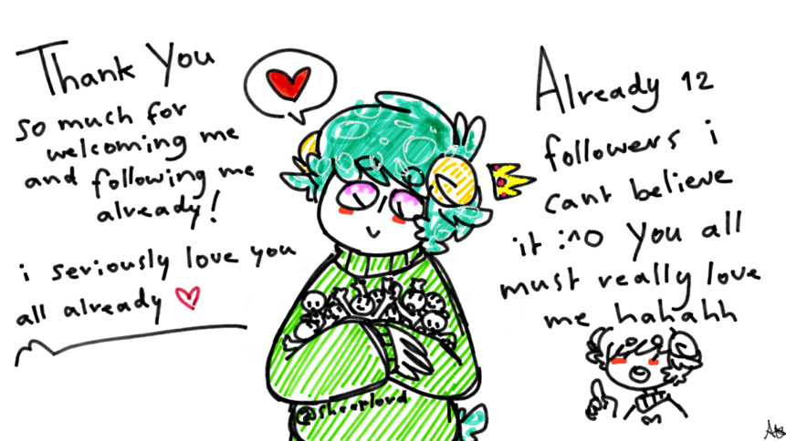 861x484 Everyone Is Just So Kind ^) So I Give You All A Thank You Drawing