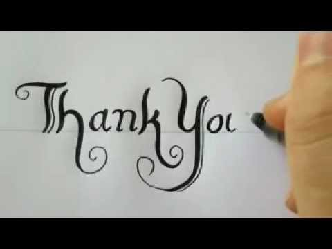 480x360 How To Draw Thank You With A Black Pen