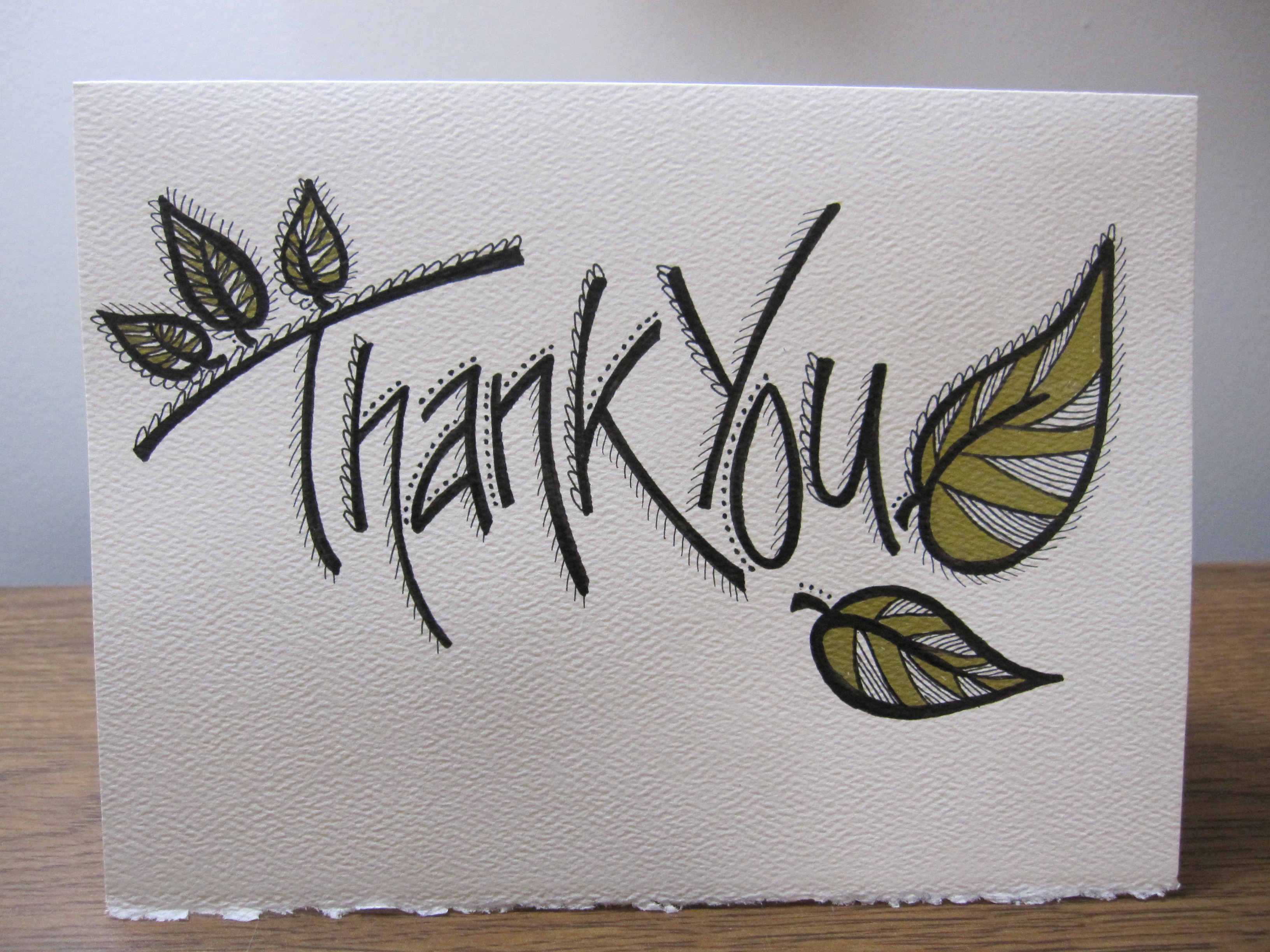 3264x2448 Thank You Ink Gold Card
