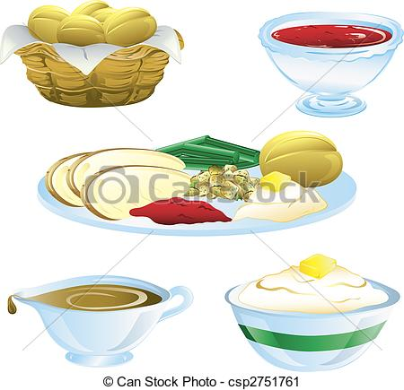 450x435 Thanksgiving Dinner Icons. Illustrations Of Different Clipart