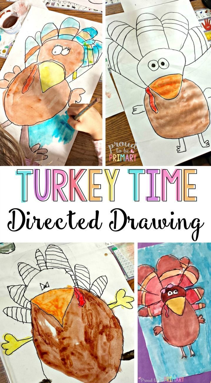 717x1300 Turkey Thanksgiving Directed Drawing Craft Activities