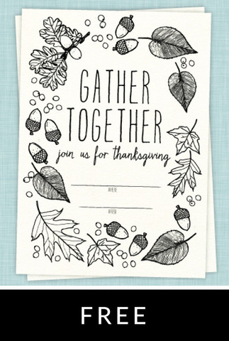 323x480 Draw Together Thanksgiving Invitation Thanksgiving Amp Christmas