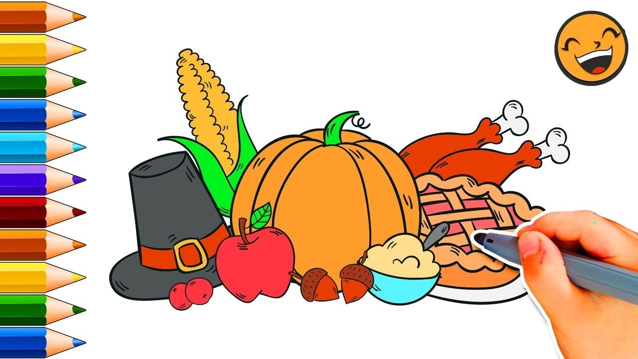 1280x720 How To Draw A Thanksgiving Meal