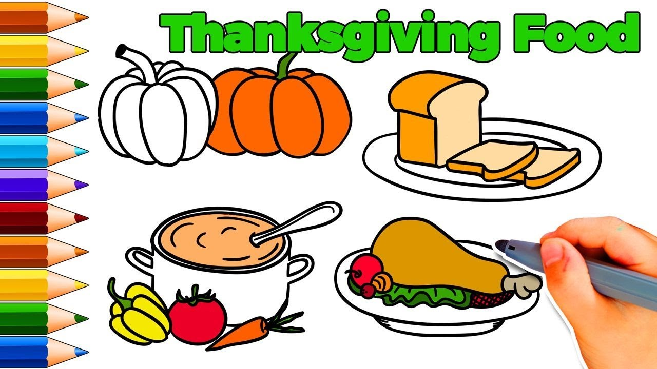 1280x720 How To Draw Thanksgiving Food