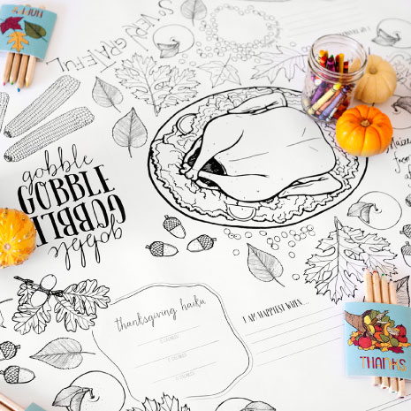 465x465 Caravan Printables For Thanksgiving. Include Posters And Placemats