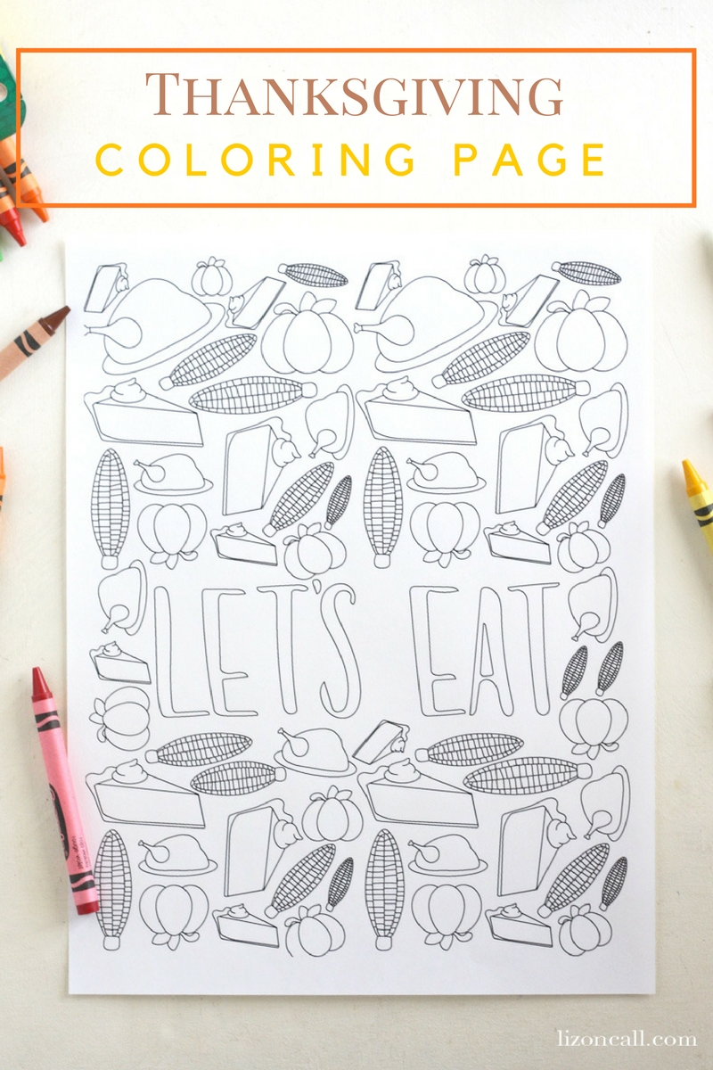 800x1200 Free Printable Thanksgiving Coloring Page