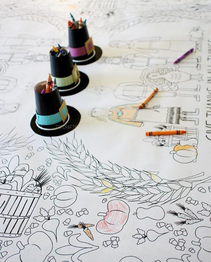 700x869 Thanksgiving Coloring Tablecloth Thanksgiving, Free Printable