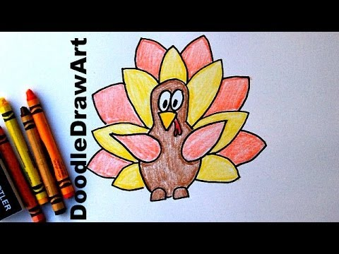 480x360 How To Draw A Cartoon Thanksgiving Turkey