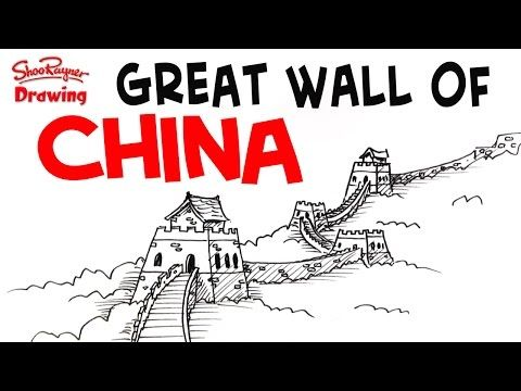 480x360 How To Draw The Great Wall Of China