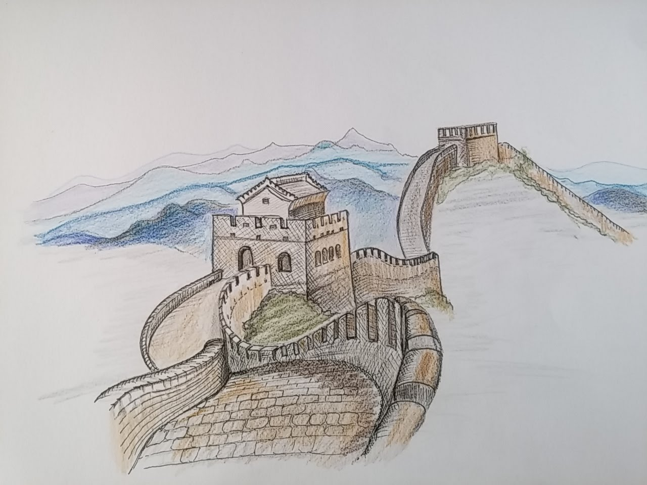 1280x960 Seddi (Timelapse)how To Draw The Great Wall