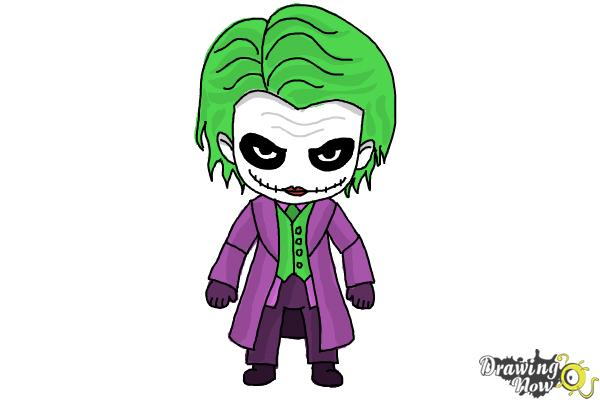 The joker cartoon drawing at getdrawings free for personal use 600x400 how to draw chibi joker from batman voltagebd Images