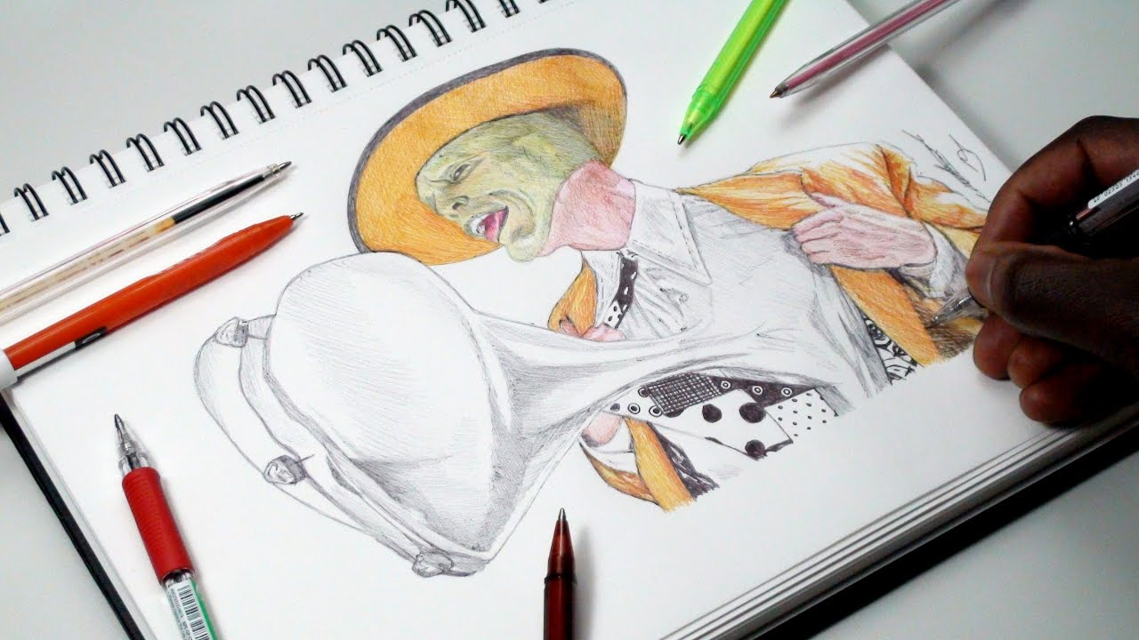 1280x720 Drawing The Mask (Jim Carrey)