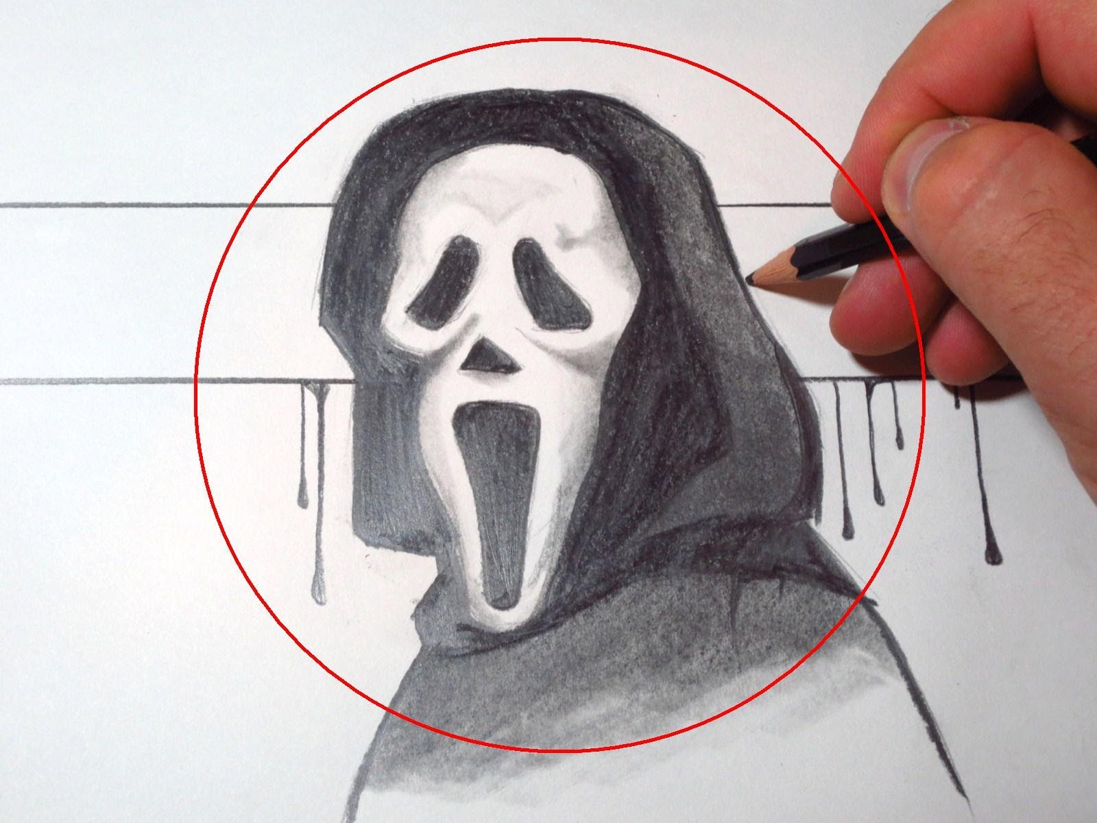 1600x1200 How To Draw Scream Mask (Ghostface)