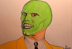 236x162 The Mask Jim Carrey Digital Drawing Instant By Gyedavidartshop