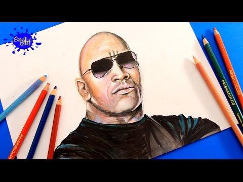 480x360 Drawing Wwe L Drawing Dwayne Johnson (The Rock) Wwe Drawings