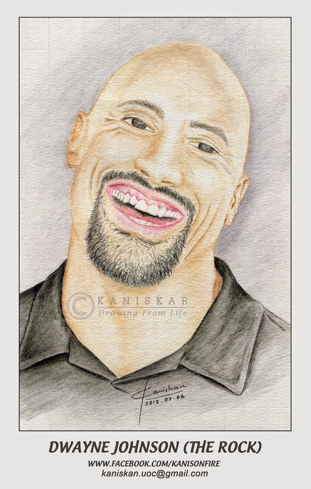 1018x1600 Dwayne Johnson (The Rock) ~ Drawing From Life