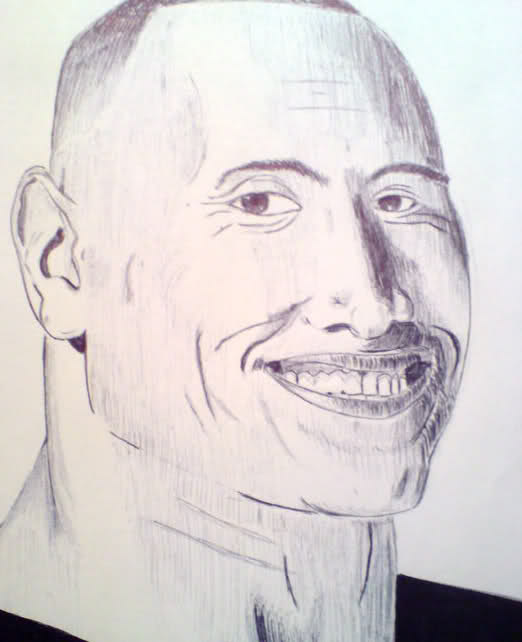 522x642 I Drew A Picture Of Dwayne The Rock Johnson Today